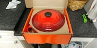 Red Le Cruset 5 qt Dutch oven Chantilly, 20151