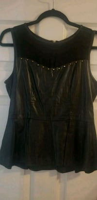 Forever 21 faux leather Peplum top size M