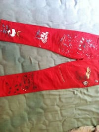 red and white custom made biker jeans  Cincinnati, 45214