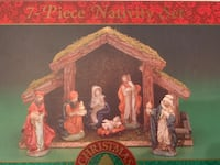 7 Piece Nativity Scene (with real grass) New Windsor, 12553