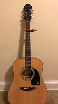 Epiphone Acoustic Guitar and Capo