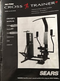 Exercise equipment sears pro form cross trainer Brookhaven, 11779