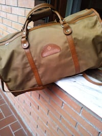 Tote bag in pelle marrone e marrone