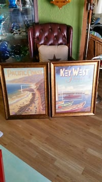 two Pacific Coast and Key West posters with brown frames Corpus Christi, 78418