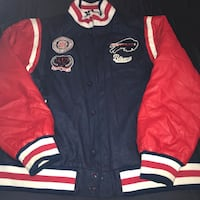 Blue and red letterman jacket Clinton, 20735