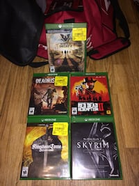 Xbox 1 games Burlington, L7M 4P9