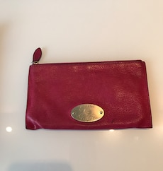 Rosa Mulberry lommebok/clutch