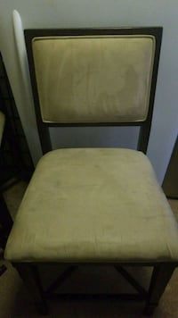 4 Suede and wood high back chairs  Greenbelt, 20770
