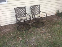 two black metal framed armchairs Ocala, 34481
