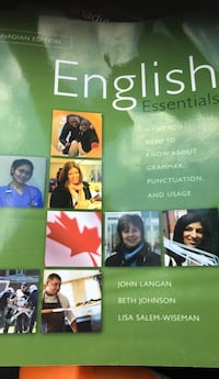 English Essentials workbook. $25