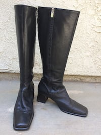 BALLY Frosta Knee High Nappa Leather Riding Boots Womens US 7 EU 37.5 Italy Made Fullerton
