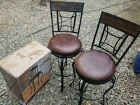 Brown metal and wood  chairs  Leicester, 28748