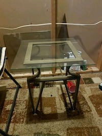 2 glass top end tables  Calgary, T2A 5K9