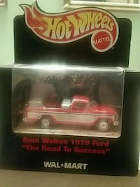 red and white Hot Wheels die-cast model box