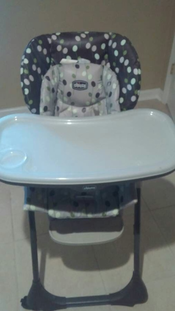 Marvelous Black And White Polka Dot Chicco High Chair Pabps2019 Chair Design Images Pabps2019Com