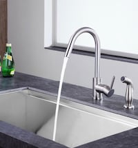 ANZZI Brushed Nickel Kitchen Faucet Washington, 20036
