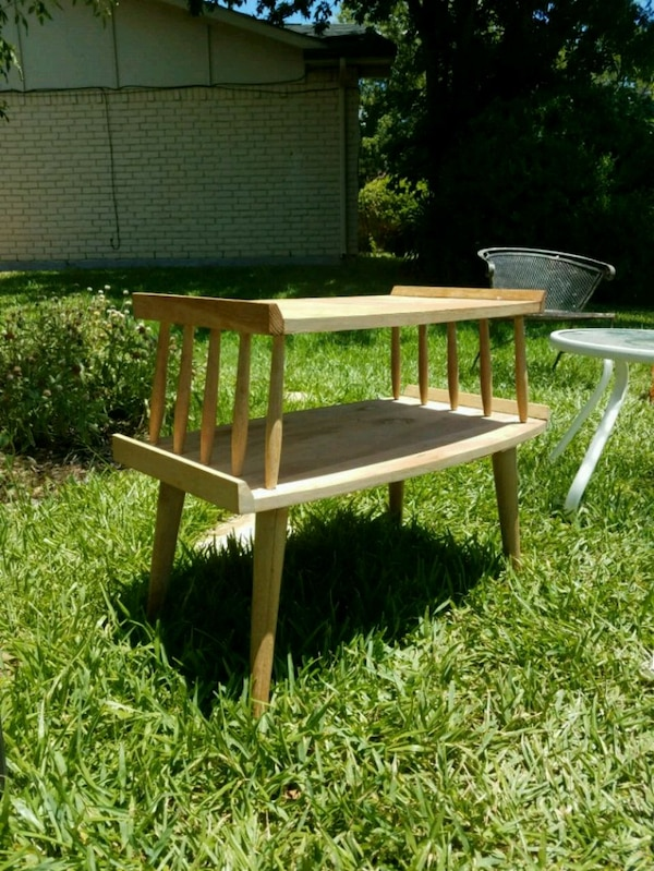Used Brown And White Wooden Picnic Table For Sale In Grand Prairie
