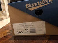 Black blundstone leather boots with box 3724 km