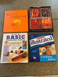 Set of 4 Cooking basics cookbooks. $6, for all. Great condition.