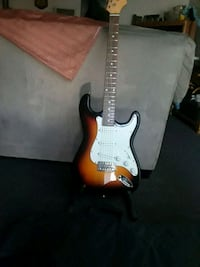 red and white stratocaster guitar Corona, 92882