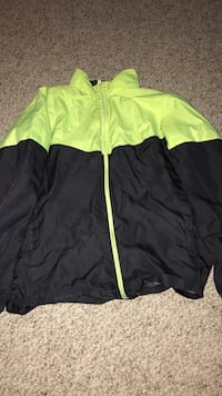 green and black zip-up jacket Muskegon, 49442