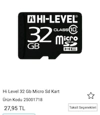 32GB HI-LEVEL CLASS 10 MİCRO SD HAFIZA KARTI VE Dİ Kadirli