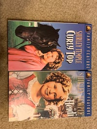 TWO VHS TAPES SHIRLEY TEMPLE
