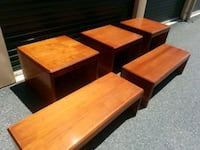 COFFEE TABLES AND END TABLES. (( $30 EACH )) Bel Air, 21014