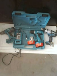 Makita hammer drill and 2 drill