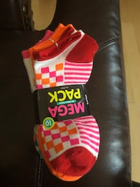 10 pair Women's no show socks - New Edison