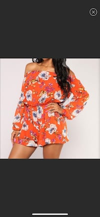 NEW orange floral romper Markham, L6B 0E7