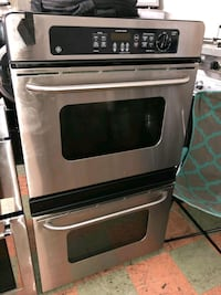 "30 "" WIDE GE ELECTRIC DOUBLE OVEN STAINLESS STEEL"