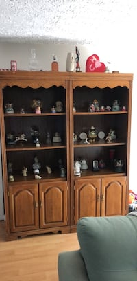 brown wooden framed glass display cabinet Frederick, 21702