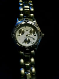 round silver-colored chronograph watch with link b Barrie, L4N