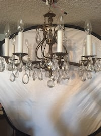 10 lights brass chandelier with crystals  Toronto, M2R 3N1