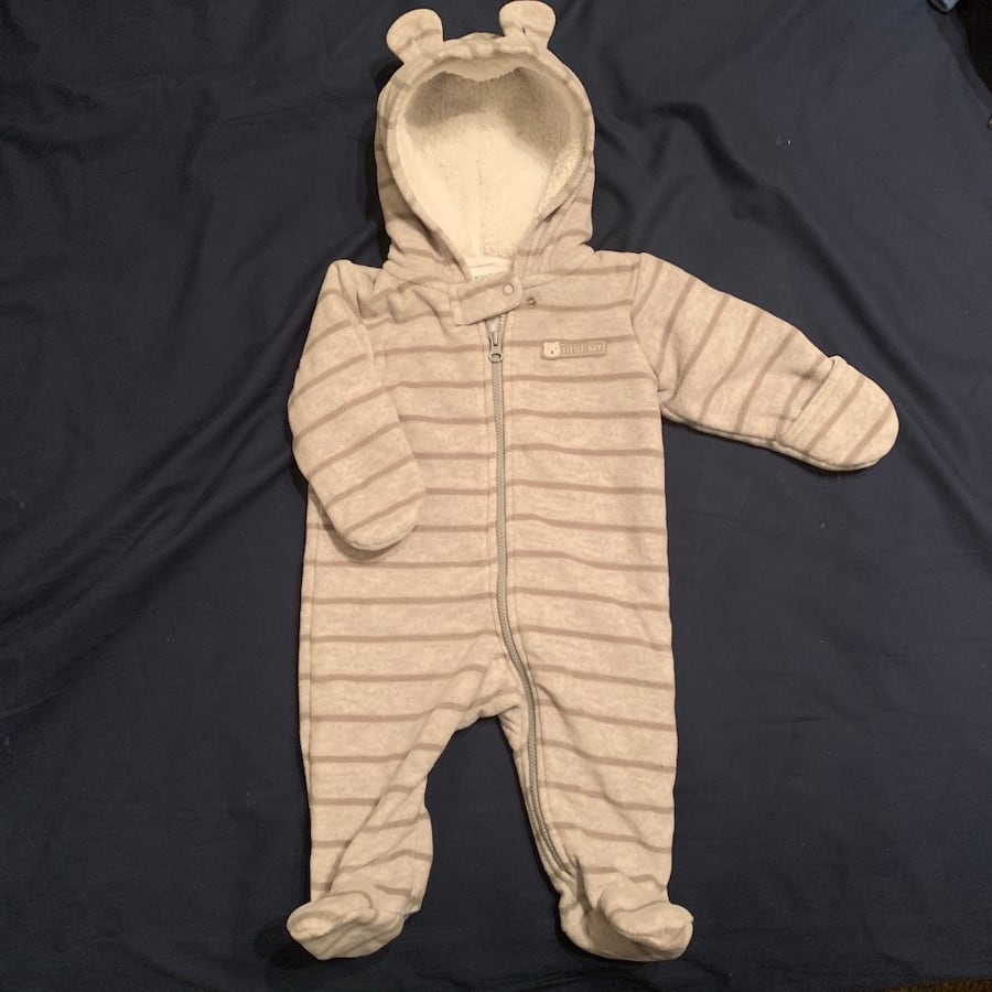 Carters bunting and fleece jumpsuits