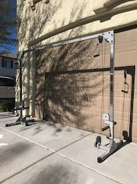 gray metal cable exercise machine