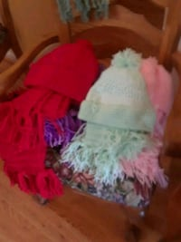 Home made hat and scarves differen t Tracy, 95376