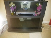 black and gray TV stand San Antonio, 78214