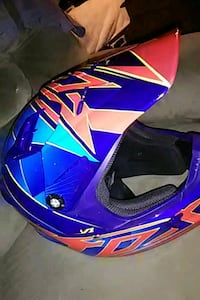blue and yellow motocross helmet Sterling Heights, 48311