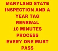 Maryland state Inspection Silver Spring
