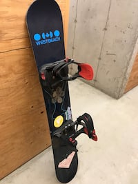 Snowboard with bindings and boots  3490 km