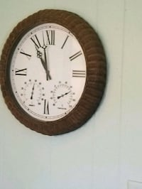 round brown wooden framed analog wall clock Saint Charles, 63301