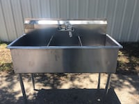 Stainless steel 3 compartment sink  Tampa, 33619