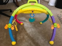 blue, yellow, and purple activity gym