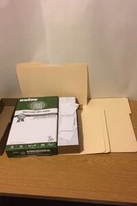 Office supply paper envelope supplies