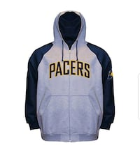 New size 6X Pacers stitched full zip hoodie  Indianapolis, 46218