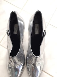 Furla Silver leather boots size 6 Oakville