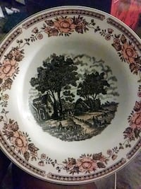 white and brown floral ceramic plate South Plainfield, 07080