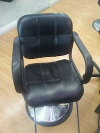 black leather office rolling armchair Wheaton-Glenmont, 20902